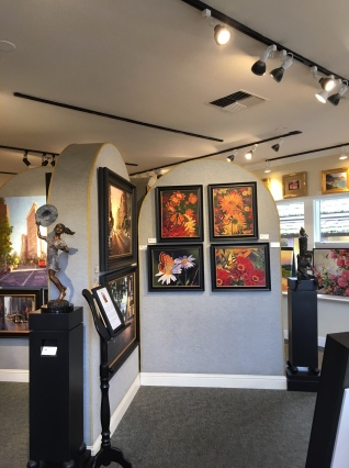 Inside where Margery's art is on display